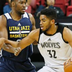 Karl-Anthony Towns has impressed for the Timberwolves at Las Vegas Summer League.