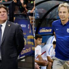Mexico manager Miguel Herrera and USA manager Jurgen Klinsmann