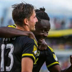 Columbus Crew SC's Kei Kamara and Ethan Finlay lead MLS in goals and assists, respectively