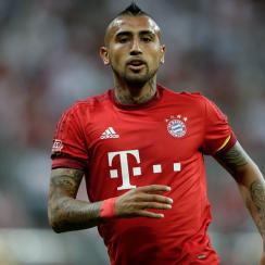 Arturo Vidal plays for Bayern Munich in the Audi Cup