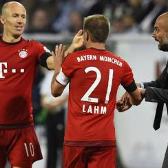 Arjen Robben, Philipp Lahm and Pep Guardiola have eyes on a Champions League and Bundesliga title this season for Bayern Munich