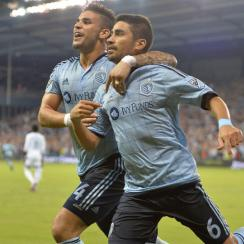 Dom Dwyer, Paulo Nagamura celebrate Sporting Kansas City's improbable comeback vs. Vancouver