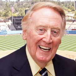 Los Angeles Dodgers' Vin Scully announced his return for a 67th season.