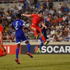 Gareth Bale heads home the decisive goal in Wales' win over Cyprus in Euro 2016 qualifying