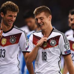Thomas Muller, Germany beat Scotland in Euro 2016 qualifying
