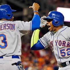Yoenis Cespedes Curtis Granderson Mets