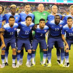 U.S. men's national team ahead of its friendly vs. Brazil
