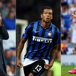 Jose Mourinho, Fredy Guarin and Cristiano Ronaldo