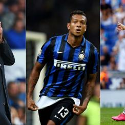 Jose Mourinho, Fredy Guarin and Cristiano Ronaldo