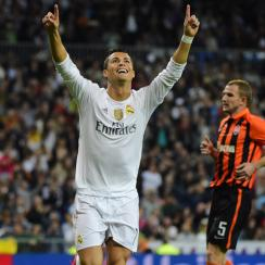 Cristiano Ronaldo nets a hat trick vs. Shakhtar Donetsk in the Champions League