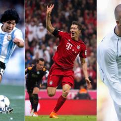 Diego Maradona, Robert Lewandowski and David Beckham
