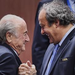 FIFA's Sepp Blatter, Michel Platini