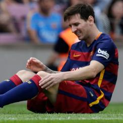 Lionel Messi's knee injury will force Barcelona to play without its superstar