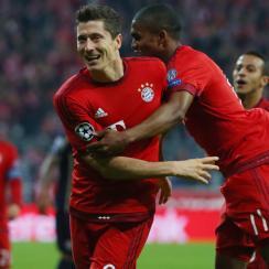 Robert Lewandowski scored three more goals for Bayern Munich in the Champions League