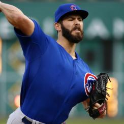 Jake Arrieta of the Chicago Cubs warms up before a recent game against the Pittsburgh Pirates.