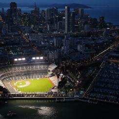 AT&T Park in San Francisco, California.