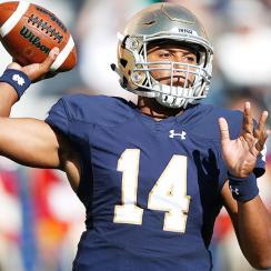 DeShone Kizer, Notre Dame play Navy in Week 6.