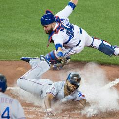 Delino DeShields, Texas Rangers, and Russell Martin, Toronto Blue Jays
