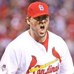 John Lackey, St. Louis Cardinals beat Chicago Cubs in Game 1.