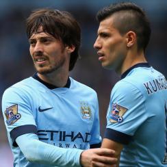 Manchester City stars David Silva, Sergio Aguero