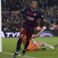 Neymar scores four goals for Barcelona