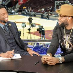 LeBron James Dwyane Wade NBA media members