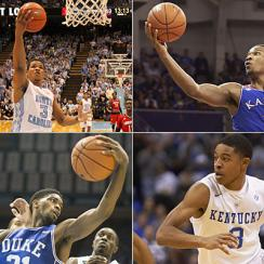 Kennedy Meeks, North Carolina Tar Heels; Wayne Selden Jr., Kansas Jayhawks; Tyler Ulis, Kentucky Wildcats; Amile Jefferson, Duke Blue Devils