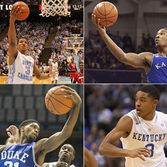 Kennedy Meeks, North Carolina Tar Heels; Wayne Selden Jr., Kansas Jayhawks; Tyler Ulis, Kentucky Wildcats; Amile Jefferson, Duke Blue Devils