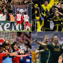New York Red Bulls, Columbus Crew, FC Dallas, Portland Timbers