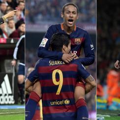 Pep Guardiola, Neymar, Luis Suarez, Arsene Wenger
