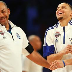 Stephen Curry Dell Curry video three-pointers Golden State Warriors