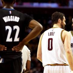 Andrew Wiggins, Kevin Love, LeBron James