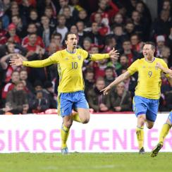 Zlatan Ibrahimovic, Sweden vs. Denmark