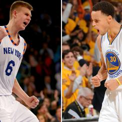 Kristaps Porzingis; Stephen Curry