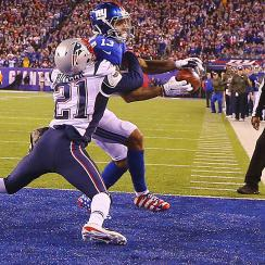 Odell Beckham Jr.'s potential TD grab ruled incomplete against the Patriots in Week 10.