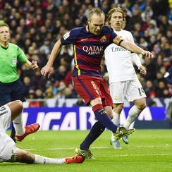 El Clasico Barcelona Real Madrid Andres Iniesta stars