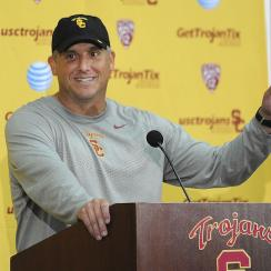 usc trojans clay helton head coach