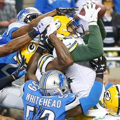The Packers stunned the Lions on a 61-yard game-winning Hail Mary pass.