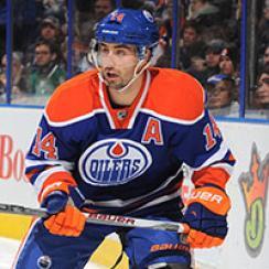 Jordan Eberle #14 of the Edmonton Oilers skates.