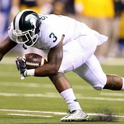 michigan state iowa winning touchdown video lj scott