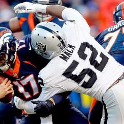 Khalil Mack: Raiders pass rusher sacks Brock Osweiler five times in Oakland win over Broncos