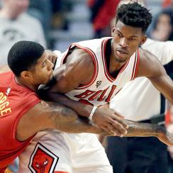 Jimmy Butler game winner video Bulls Pacers