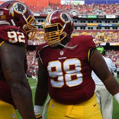 Childhood friend Chris Baker and Terrance Knighton are pursuing a title together