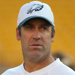 Doug Pederson as Eagles quarterbacks coach in 2010.