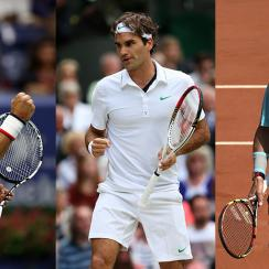 roger federer novak djokovic rafael nadal grand slams comparison