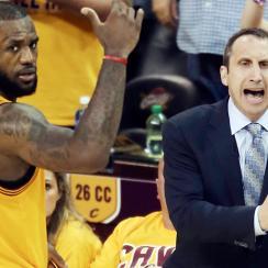 Cleveland Cavaliers David Blatt LeBron James Tyronn Lue