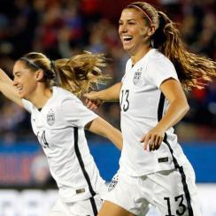 Alex Morgan scored a record 12 seconds into USA's Olympic qualifier vs. Costa Ric