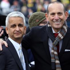 U.S. Soccer president Sunil Gulati and MLS commissioner Don Garber