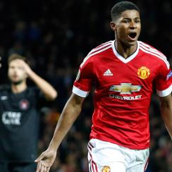 Marcus Rashford scored twice on his Manchester United debut