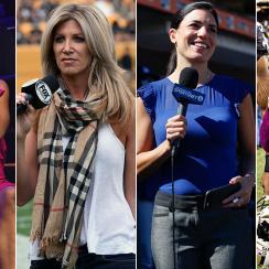 Josina Anderson, Laura Okmin, Alanna Rizzo, and Michelle Tafoya.